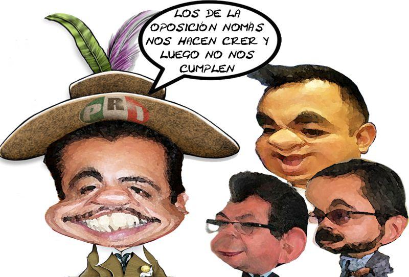 Florentino Dominguez Ordoniez, PRI, Lamenta Mentiras Oposicion, -Angelo Gutierrez, Jose Gilberto Temoltzin, Serafin Ortiz, Tlaxcala Online