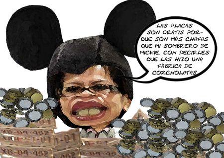 Gisela Santacruz, Caricatura 1, SECTE, Placas Chafas, Corcholatas, Lazos Internacionales, Tlaxcala Online