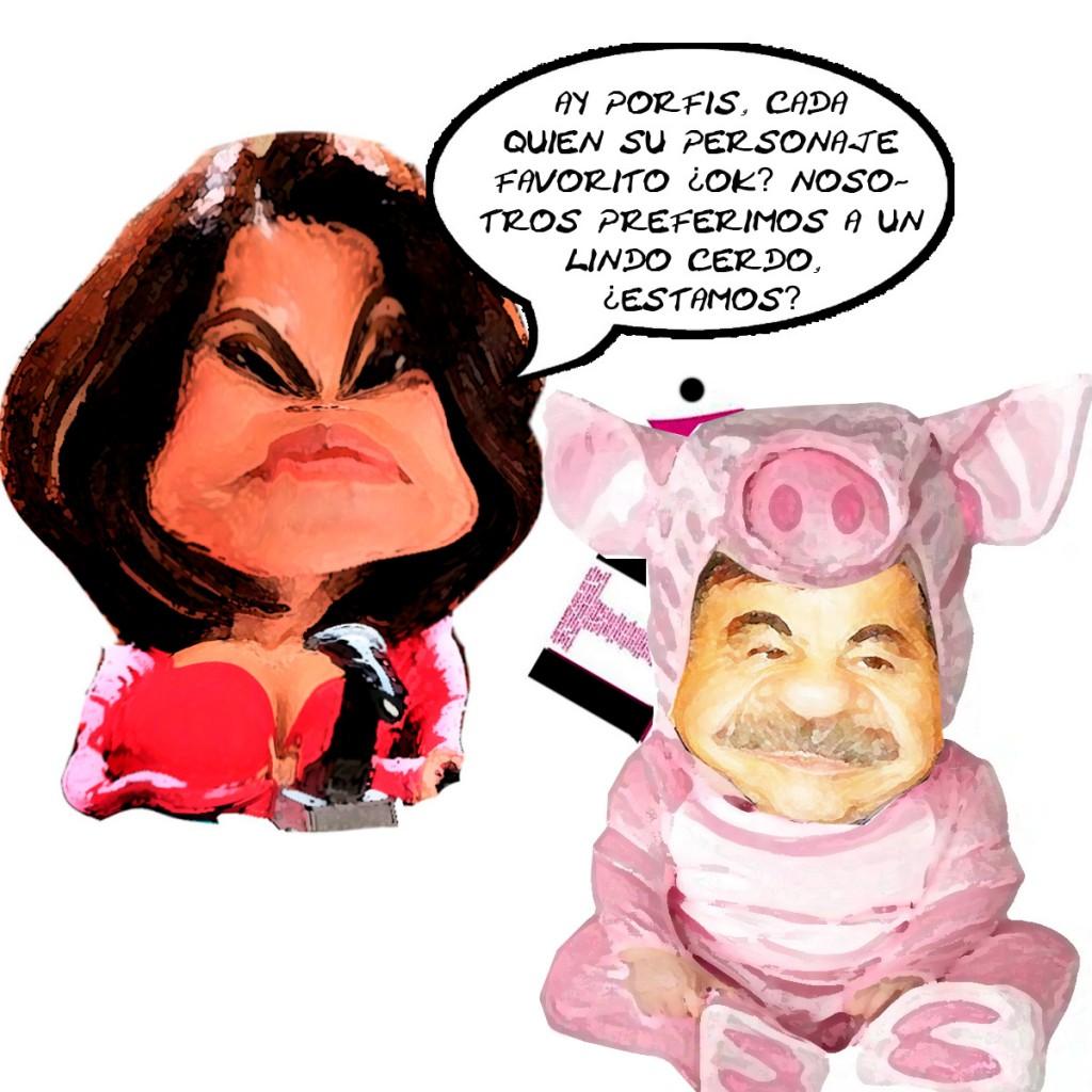 ITE Lindo Cerdo Mariano Gonzalez Zarur, Tlaxcala Fraude Cochinero, Caricatura