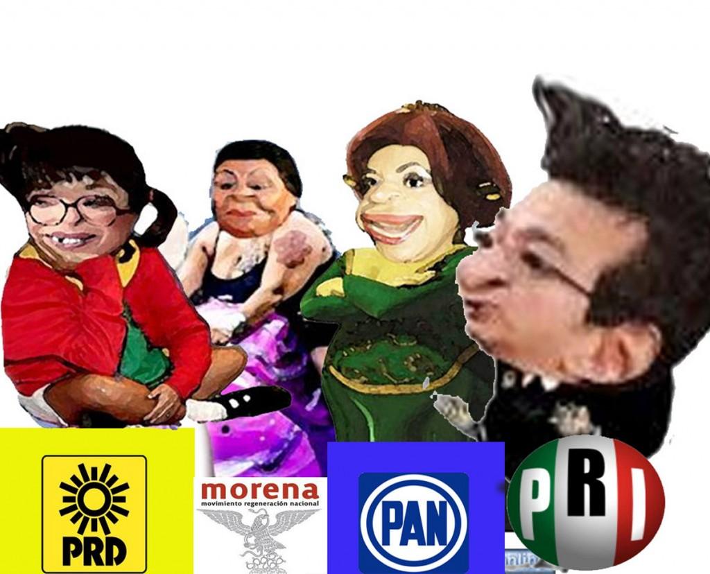 Lorena Cuellar, Adriana Davila, Marco Antonio Mena, Martha Palafox, Elecciones 2016