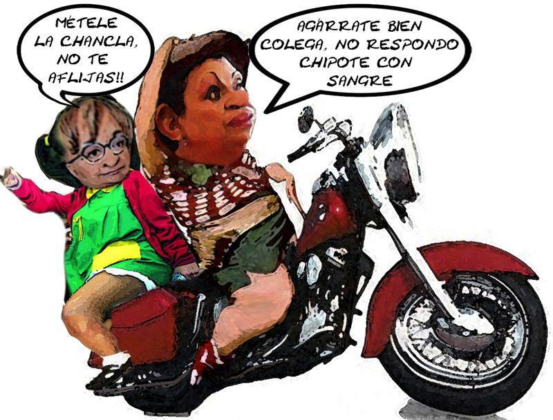 Lorena Cuellar Cisneros, Chilindrina, Marta Palafox Gutierrez, Motociclista, PRD, PT, Senadoras, Tlaxcala Online