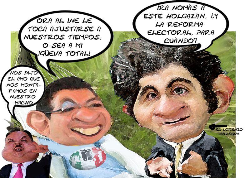 Lorenzo Cordova, INE, PRI, Marco Antonio Mena, Heriberto Lopez Briones, Reforma Electoral, Tlaxcala Online