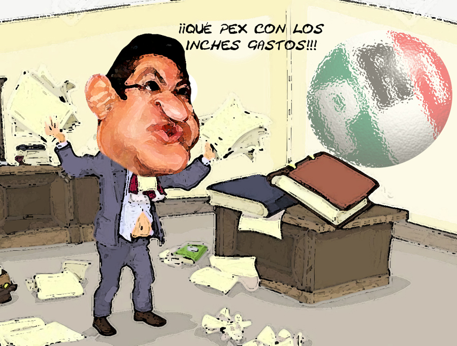 Marco Mena Caricatura, Gastos PRI Rebasan Tope, Tlaxcala Online