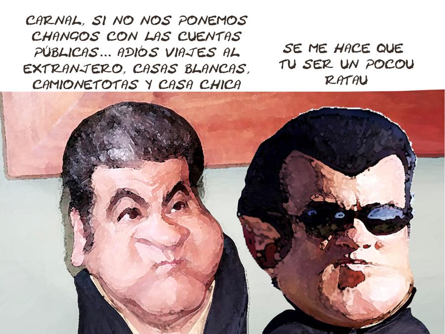 Roberto Zamora Graciaa, Cuentas Publicas, Corrupcion Tlaxcala Online Nico, Caricatura