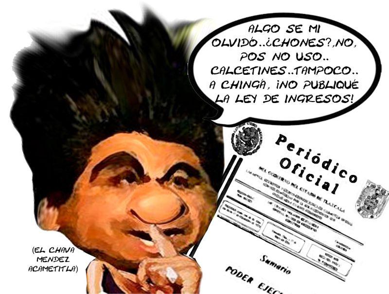 Salvador Mendes Acametitla, Olvida Publicar Ley Ingresos, Municipios Quebrados, Comision Finanzas,Tlaxcala Online