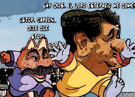 caricatura, Arturo Tecuatl,  Mariano Gonzalez lobo estepario Hector Ortiz Tlaxcala Online
