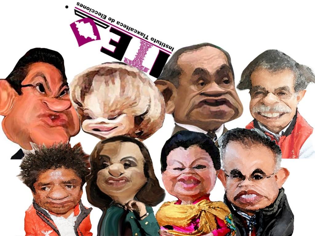 caricatura candidatos debate ITE