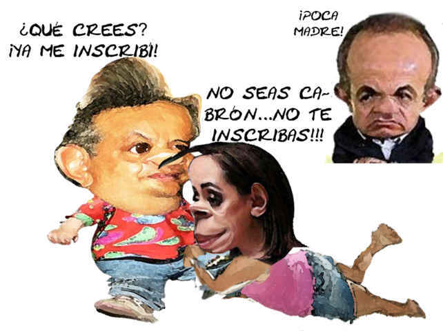 (etlaxcala) Adriana Davila, Alejandro Aguilar Lopez, Felipe Calderon, Eleccion Interna PAN, Caricatura, Tlaxcala Online