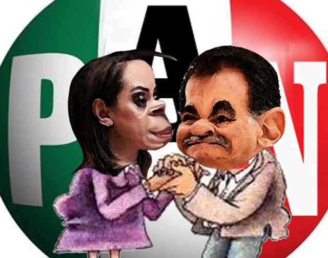 (etlaxcala) Adriana Davila Fernandez, Mariano Gonzalez Zarur, PRIAN, Caricatura Tlaxcala Online