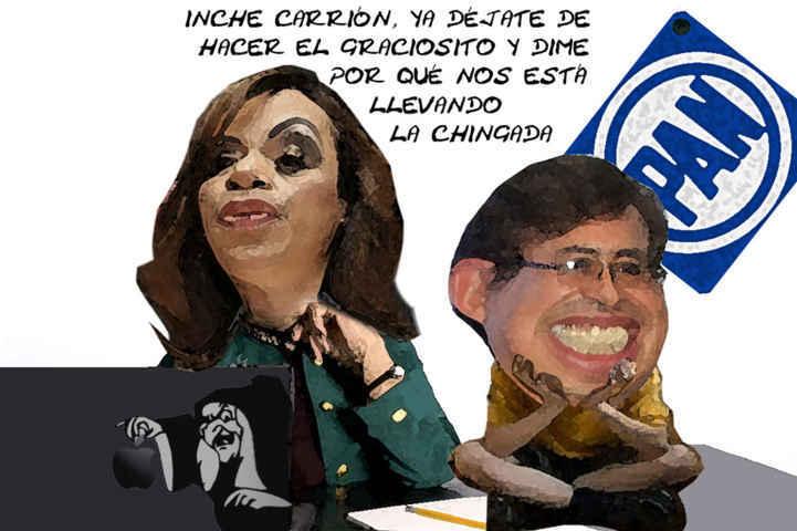 (etlaxcala) Adriana Davila Fernandez Resposable Fracaso PAN Tlaxcala, Carlos Carreon, Caricatura En Linea