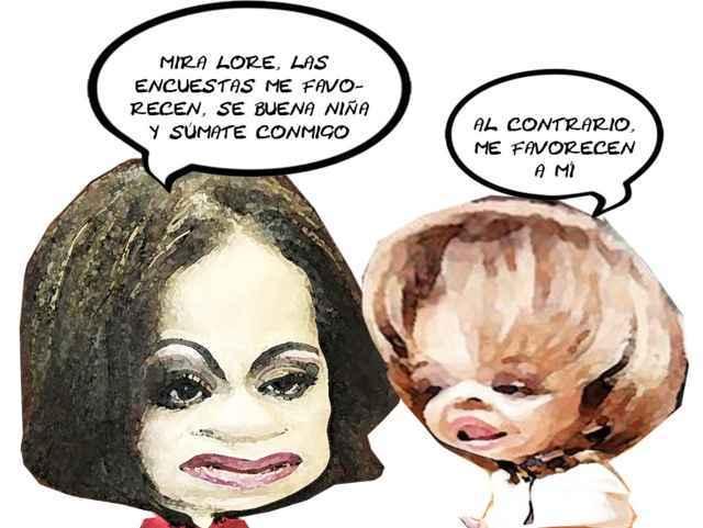 (etlaxcala) Adriana Davila Fernandez, Senadoras, Lorena Cuellar Cisneros, PAN, PRD, No Concretan Alianza, Caricatura, Tlaxcala Online