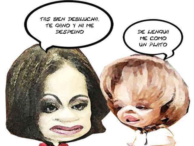 (etlaxcala) Adriana Davila, Lorena Cuellar, Candidata Debil, Caricatura, Tlaxcala Online