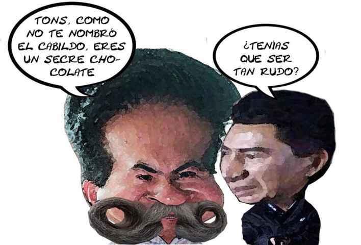 (etlaxcala) Alcalde Adolfo Escobar Jardinez, Secretario Chocolate Benjamin Avila Marquez, Ayuntamiento, Tlaxcala Enlinea Caricatura