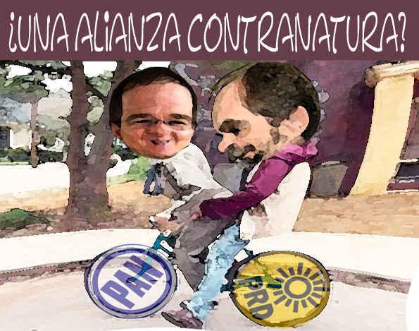 (etlaxcala) Alianza PAN PRD, caricatura, Ricardo Anaya, Agustin Basave, Tlaxcala Enlinea