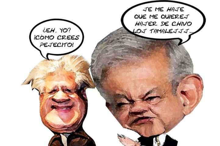 (etlaxcala) Andres Manuel Lopez Obrador, Alfonso Sanchez Anaya, Conspiracion, Chivo Tamales, Morena, Candidatura, Tlaxcala Online, Caricatura