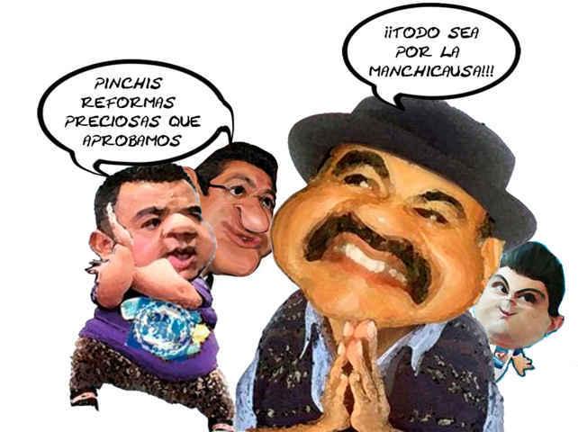 (etlaxcala) Angelo Gutierrez Hernandez PAN, Marco Antonio Mena Rodriguez, PRI, Mariano Gonzalez Zarur, Aguirre, Amasiato, Caricatura, Tlaxcala Online