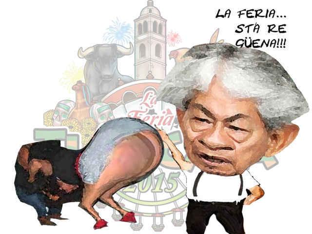 (etlaxcala) Ariel Lima Pineda, Borrachas, Feria Tlaxcala, caricatura Tlaxcala Online