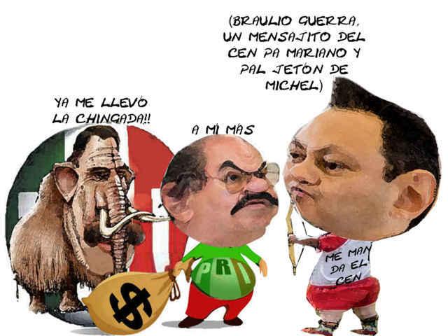 (etlaxcala) Braulio Guerra, CEN PRI Javier Michel Desplazado, Mariano Gonzalez Zarur Derrotado, Tlaxcala Online