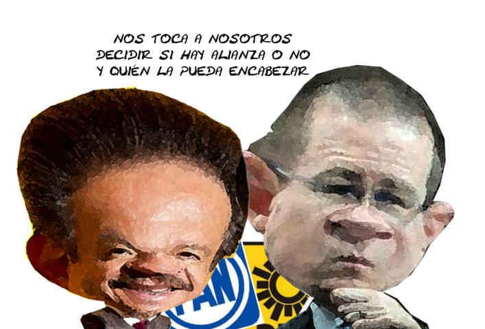 (etlaxcala) Carlos Navarrete, Ricardo Anaya, Alianza PAN PRD, Caricatura, Tlaxcala Online