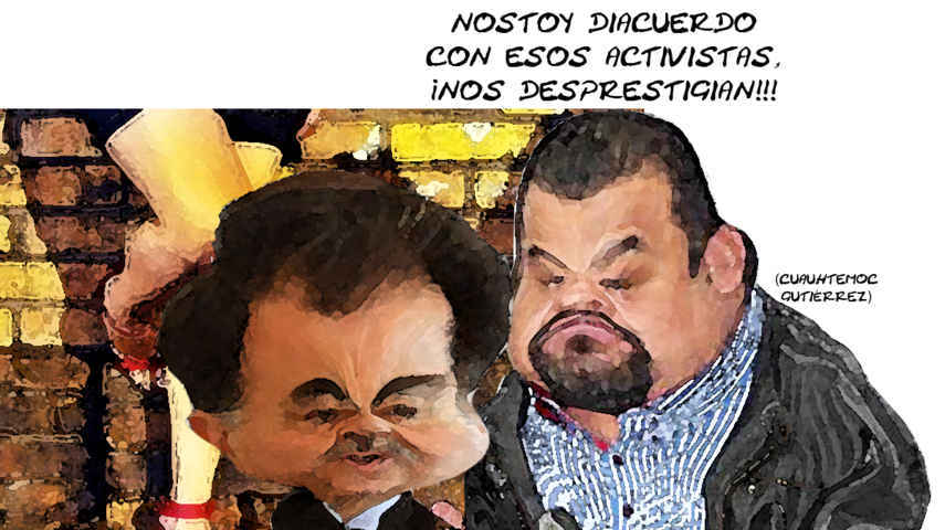 (etlaxcala) Cuauhtemoc Gutierrez, Mariano Gonzalez Zarur, Trata Personas, PRI, Desprestigiados, Caricatura Tlaxcala Online
