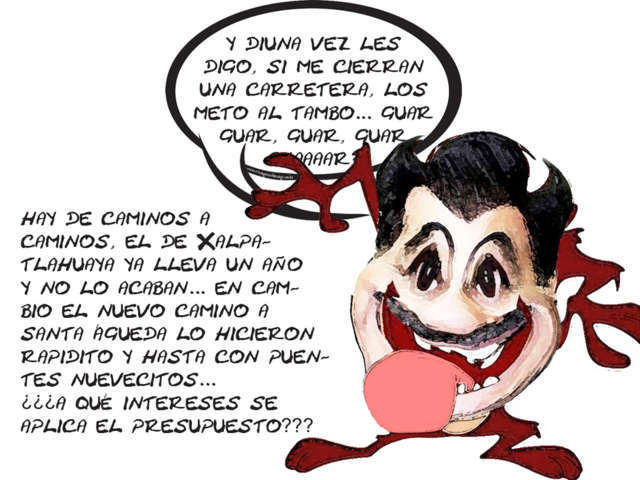 (etlaxcala) Demonio de Tazmanchis Mariano Gonzalez Enloquece Ante Gente Xalpatlahuaya, Retraso Camino, Tlaxcala Online