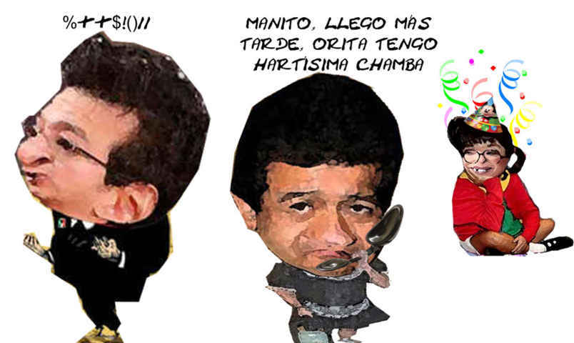 (etlaxcala) Fabricio Mena Rodriguez, Anfitrion, Fiesta Lorena Cuellar Cisneros, Marco Antonio, Caricatura Tlaxcala Enlinea
