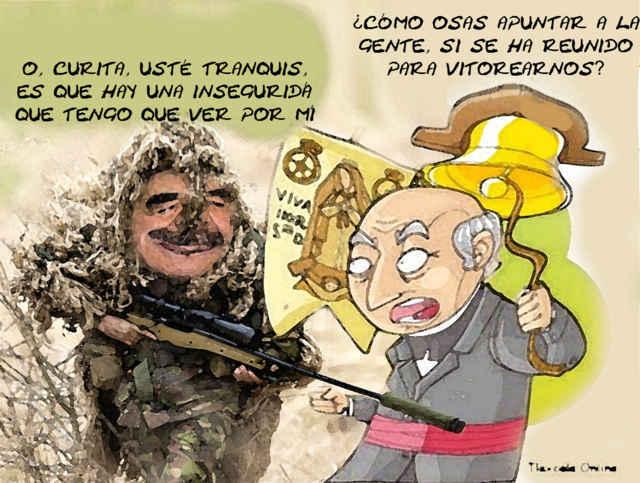 (etlaxcala) Grito Independencia, Francotiradores, Mariano Gonzalez Zarur, Padre Miguel Hidalgo, Caricatura, Tlaxcala Online