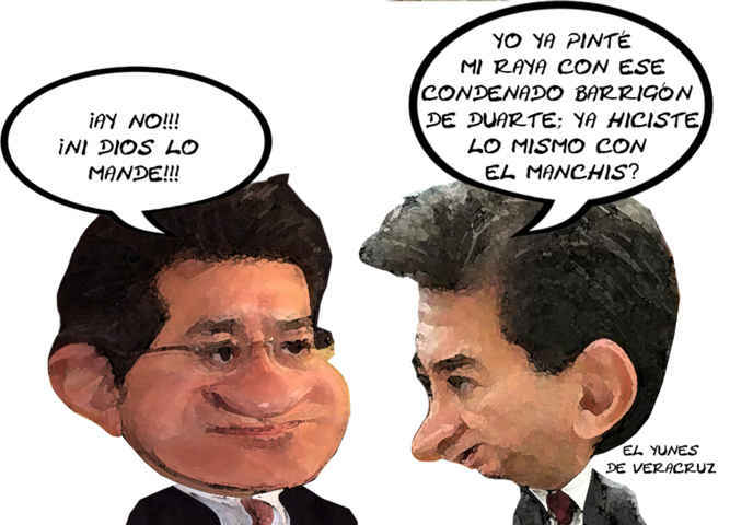 (etlaxcala) Hector Yunes Landa Veracruz, PRI, Marco Mena Rodriguez, Deslinde Gobernador, Tlaxcala Enlinea, Caricatura