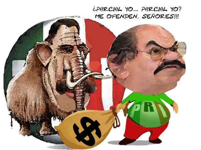 (etlaxcala) Javier Michel Delegado CEN PRI Cobra Gobernador, Mariano Gonzalez Zarur, Parcial, Caricatura Tlaxcala Online