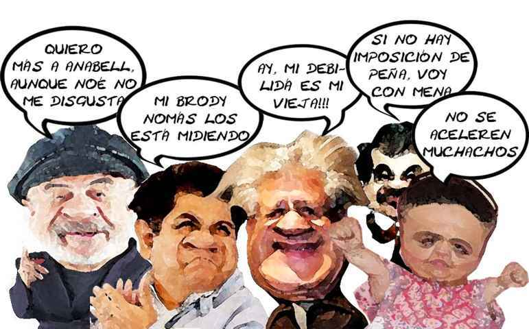 (etlaxcala) Jose Antonio Alvarez Lima, Hector Ortiz, Alfonso Sanchez Anaya, Mariano Gonzalez Zarur, Beatriz Paredes Rangel, Caricatura, Sucesion, PRI Tlaxcala O