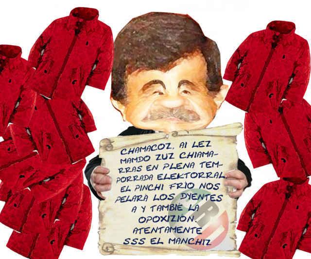 (etlaxcala) Manchi Chamarras Electoreras, Mariano Gonzalez Zarur, Descaro, Mapacheria, Tlaxcala En Linea Caricatura