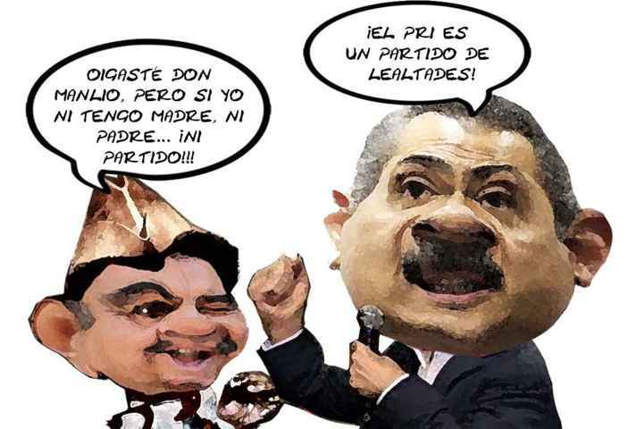 (etlaxcala) Manlio Fabio Beltrones Protesta CEN PRI, Mariano Gonzalez Zarur, Desleal, Caricatura, Tlaxcala Online