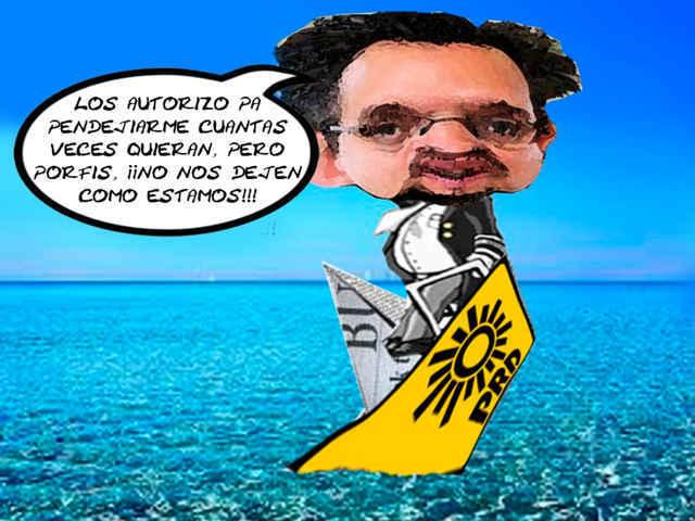(etlaxcala) Manuel Cambron, PRD, Le Gusta Que le Digan Pendejo, Crisis Partido, Caricatura, Tlaxcala Online