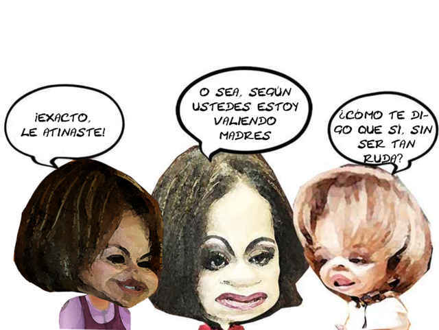 (etlaxcala) Minerva Hernandez Ramos, Adriana Davila Fernandez, Lorena Cuellar Cisneros, Caricatura, Candidatura PAN PRD, Tlaxcala Online