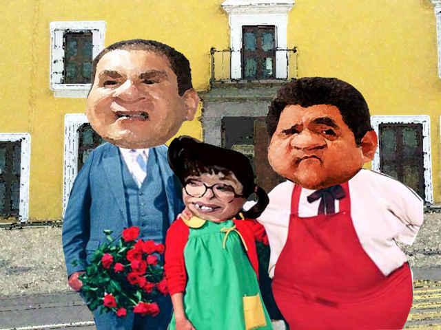 (etlaxcala) Rafael Moreno Valle, Casa Aguayo, Lorena Cuellar Cisneros, PRD, Hector Ortiz, PAN, Alianza, Gubernatura, Caricatura, Tlaxcala Online
