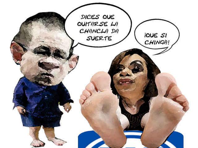 (etlaxcala) Ricardo Anaya Cortes, PAN, Adriana Davila Fernandez, Chanclas, Caricatura Tlaxcala En Linea
