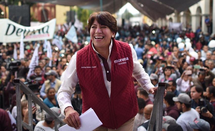 Morena: Delfina Gómez ganó la elección en el Estado de México