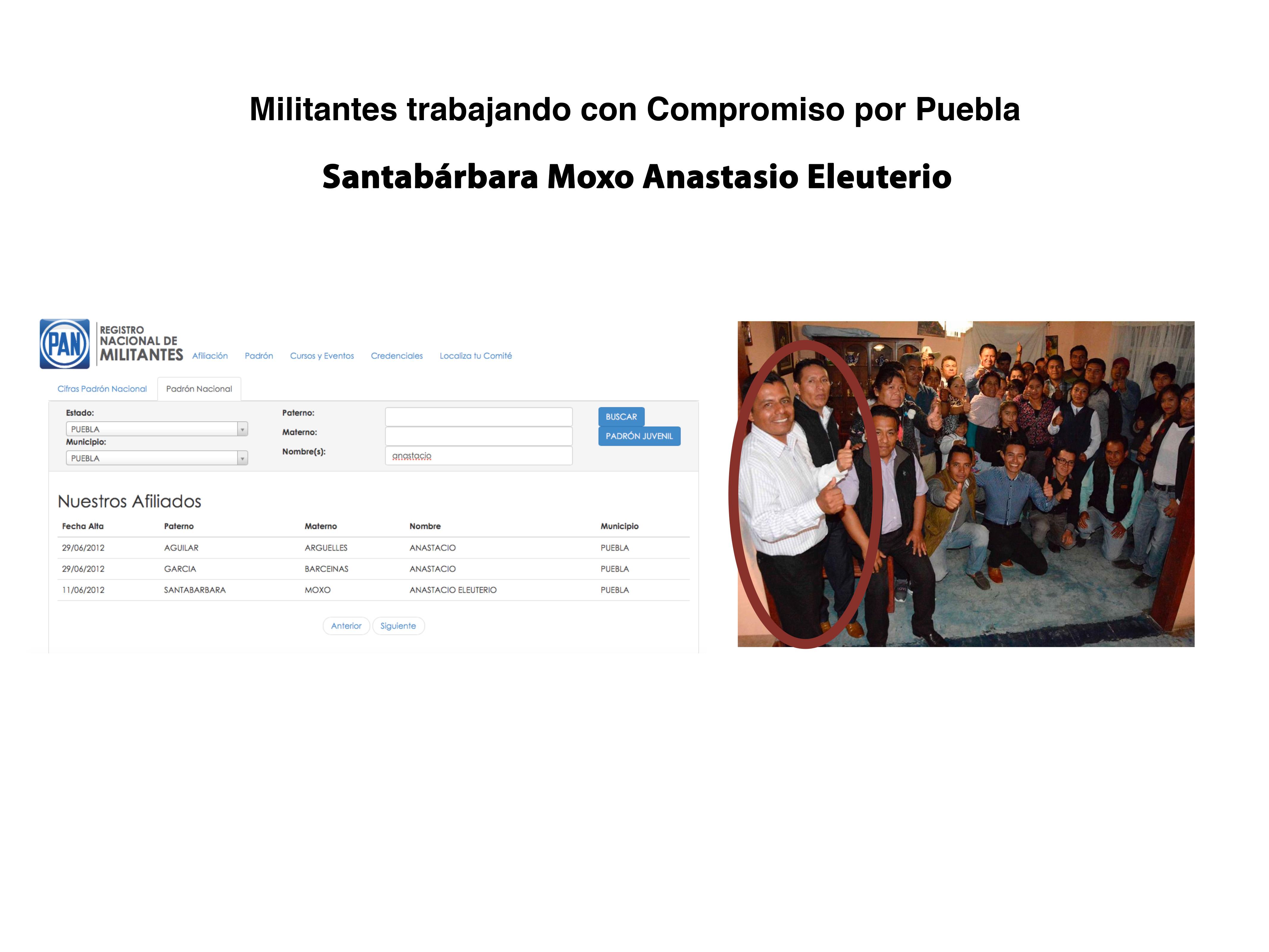 Militantes trabajando en otros partidos.key